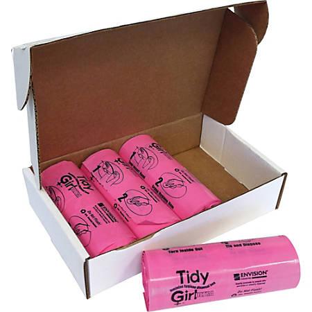Stout Tidy Girl Feminine Hygiene Disposal Bags, Pink, Pack Of 600