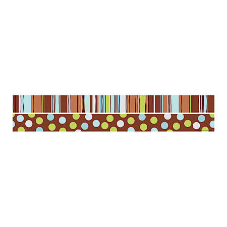 "Barker Creek Double-Sided Straight-Edge Border Strips, 3"" x 35"", Ribbon, Pack Of 12"