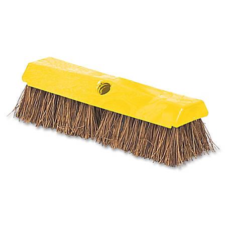 "Rubbermaid Commercial Rugged Deck Brush - 2"" Palmyra Bristle - 6 / Carton"