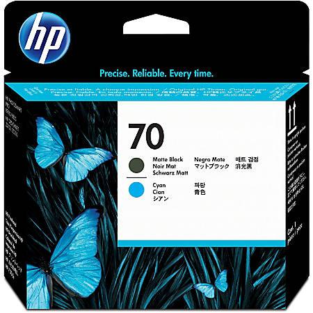 HP 70 (C9404A) Black and Cyan Inkjet Cartridge