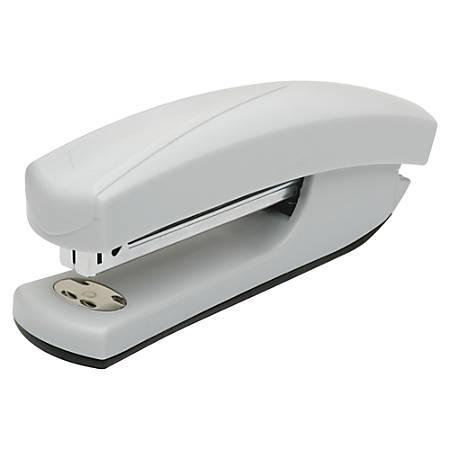 SKILCRAFT® Light-Duty Standard Full-Strip Ergonomic Desktop Stapler, Light Gray