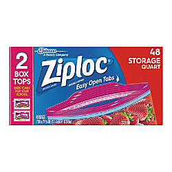 Ziploc Brand Seal Top Quart Storage