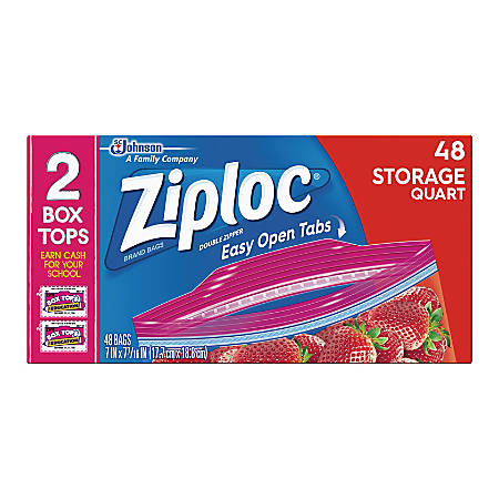 Ziploc® Brand Seal Top Quart Storage Bags