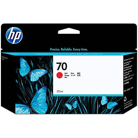HP 70 (C9456A) Red Inkjet Cartridge