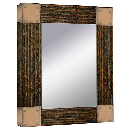 "PTM Images Framed Mirror, Accent, 20""H x 16""W, Natural Black"