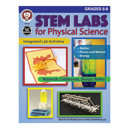 Mark Twain Media STEM Labs For Physical Science, Grades 6-8