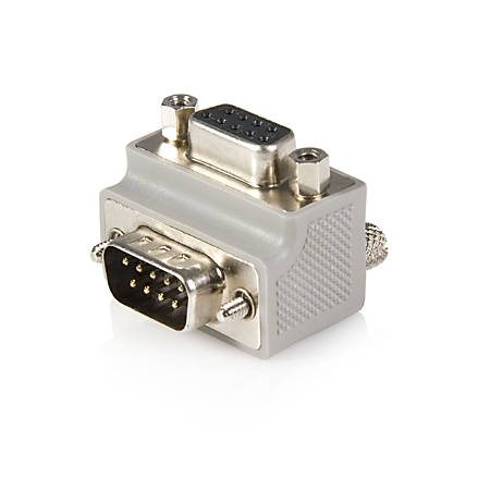StarTech.com Serial adapter cable - Type 2 - right angle DB9 (m) -DB9 (f) - Serial ATA - 1 x DB-9 Male - 1 x DB-9 Female - Gray