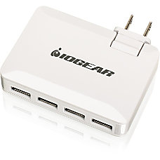IOGEAR GearPower QuadSmart USB 42A Wall