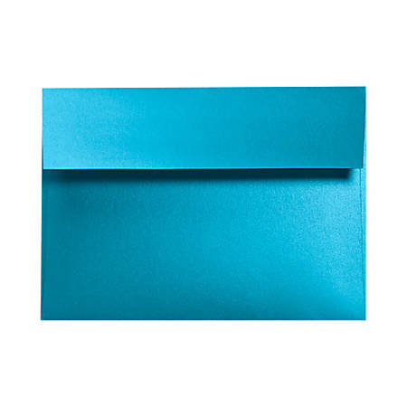 "LUX Invitation Envelopes With Moisture Closure, A9, 5 3/4"" x 8 3/4"", Trendy Teal, Pack Of 500"