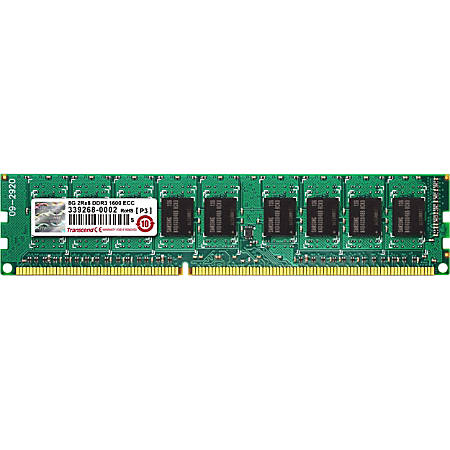 Transcend 8GB DDR3 Memory 240Pin Long-DIMM DDR3-1600 ECC Unbuffer Memory - For Server - 8 GB - DDR3-1600/PC3-12800 DDR3 SDRAM - CL11 - ECC - Unbuffered - 240-pin - DIMM
