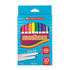 Scholastic Markers Fine Tip Assorted Colors