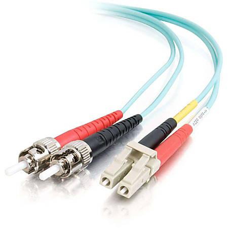 """C2G-3m LC-ST 10Gb 50/125 OM3 Duplex Multimode PVC Fiber Optic Cable (LSZH) - Aqua - Fiber Optic for Network Device - LC Male - ST Male - 10Gb - 50/125 - Duplex Multimode - OM3 - 10GBase-SR, 10GBase-LRM - LSZH - 3m - Aqua"""""""