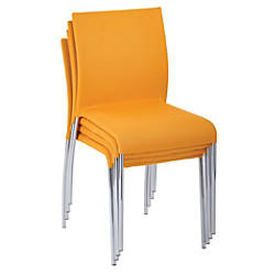Ave Six Conway Stacking Chairs NuggetSilver