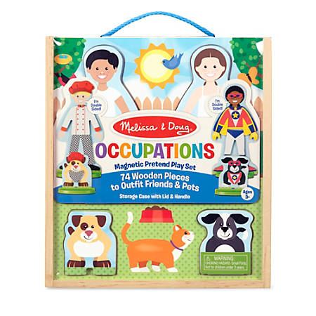 Melissa & Doug Pretend Play Educational Toys, Occupations Magnetic Pretend Play Set
