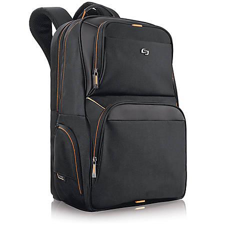 Solo® Urban Laptop Laptop Backpack, Black/Orange