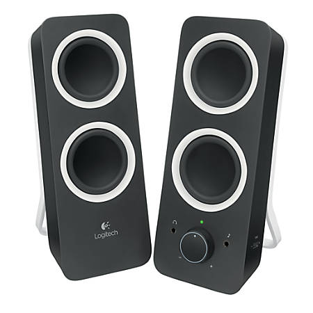 Logitech® Z200 Multimedia Speakers, Midnight Black