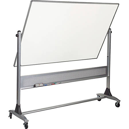 "Best-Rite® Magnetic Reversible Dry-Erase White Board, 48"" x 72"", Silver Frame"
