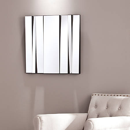 "Southern Enterprises Mata Decorative Mirror, 23 3/4"" x 23 3/4"", Black"