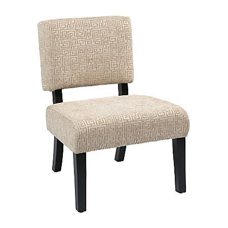 Ave Six Jasmine Accent Chair, Maze Oyster/Dark Brown