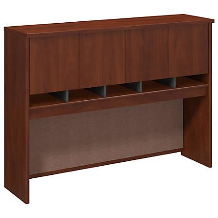 "Bush Business Furniture Components Hutch 60""W, Hansen Cherry/Graphite Gray, Premium Installation"
