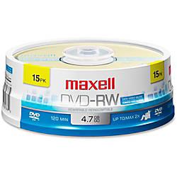 Maxell DVD RW Rewritable Media Discs