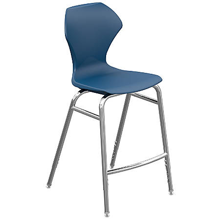 Marco Group Apex Series Adjustable Stool, Navy/Chrome