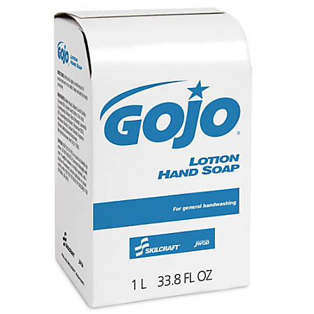 GOJO® Lotion Hand Soap, 33.8 Oz, Box Of 8 (AbilityOne 8520-01-522-0838)