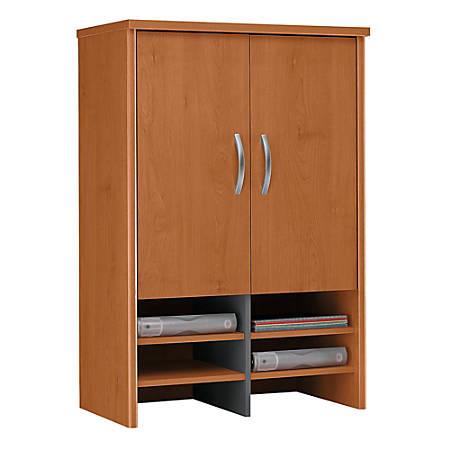 """Bush Business Furniture Components Hutch 30""""W, Natural Cherry/Graphite Gray, Premium Installation"""