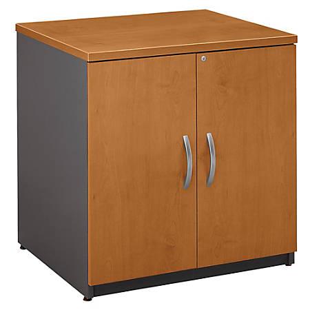 "Bush Business Furniture Components Storage Cabinet, 30""W, Natural Cherry/Graphite Gray, Premium Installation"