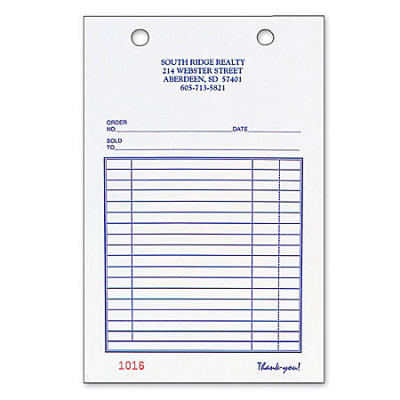 "Register Forms, All-Purpose, 3-Part, 4"" x 6 1/2"", Box Of 250"