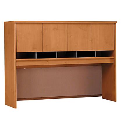 """Bush Business Furniture Components Hutch 60""""W, Natural Cherry/Graphite Gray, Premium Installation"""
