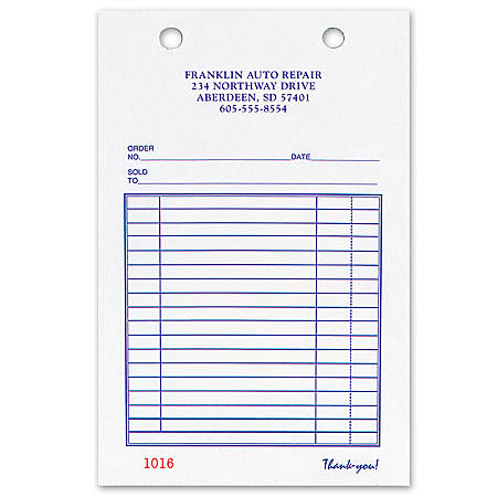 """Register Forms, All-Purpose, 2-Part, 5 3/8"""" x 8 1/2"""", Box Of 250"""