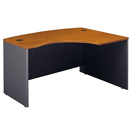 "Bush Business Furniture Components L Bow Desk Right Handed, 60""W x 43""D, Natural Cherry/Graphite Gray, Standard Delivery"