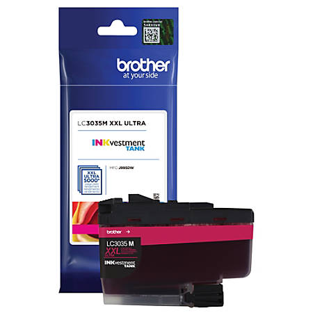 Brother INKvestment Tank Ink Cartridge, Extra-High Yield, Magenta, LC3035M