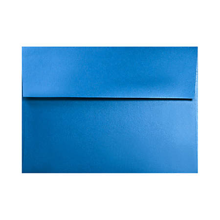 "LUX Invitation Envelopes With Moisture Closure, A2, 4 3/8"" x 5 3/4"", Boutique Blue, Pack Of 50"