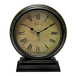 Infinity Instruments Dais Tabletop Clock Black