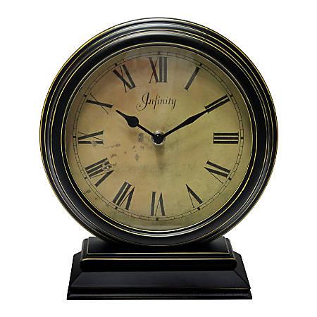Infinity Instruments Dais Tabletop Clock, Black