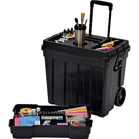 "Continental Tuff Box Portable Tool Organizer - 20.3"" Height x 23.5"" Width x 15.5"" Depth - Yellow - 1Each"