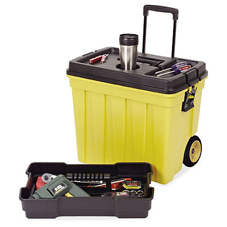 "Continental Tuff Box Portable Tool Organizer - 20.3"" Height x 23.5"" Width x 15.5"" Depth - Yellow - 1Each"