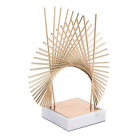"""Zuo Modern Callis Sculpture, 19 3/4""""H x 17 3/4""""W x 9 7/16""""D, Gold"""