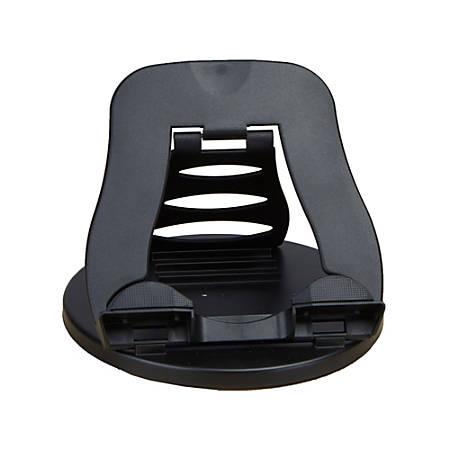 """Mind Reader Spinning Adjustable Tablet Holder, 6 1/2""""H x 8 1/2""""W x 8 1/2""""D, Black"""