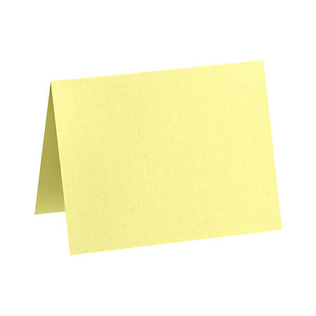 """LUX Folded Cards, A1, 3 1/2"""" x 4 7/8"""", Lemonade Yellow, Pack Of 1,000"""
