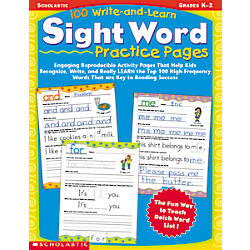 Scholastic 100 Write Learn Sight Word