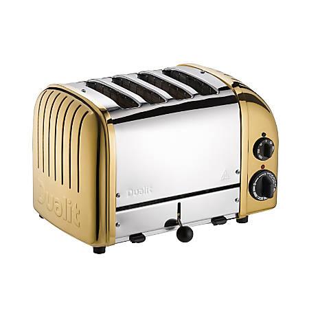 Dualit® NewGen Extra-Wide-Slot Toaster, 4-Slice, Brass