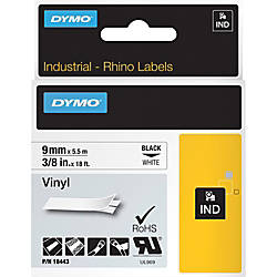 Dymo Rhino Industrial Vinyl Labels Permanent