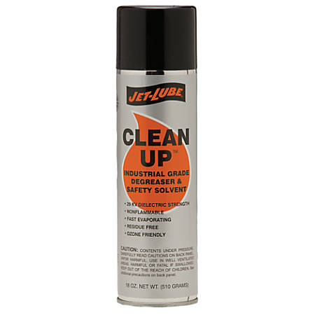 Clean-Up Industrial Safety Solvent/Cleaners, 18 oz Aerosol Can
