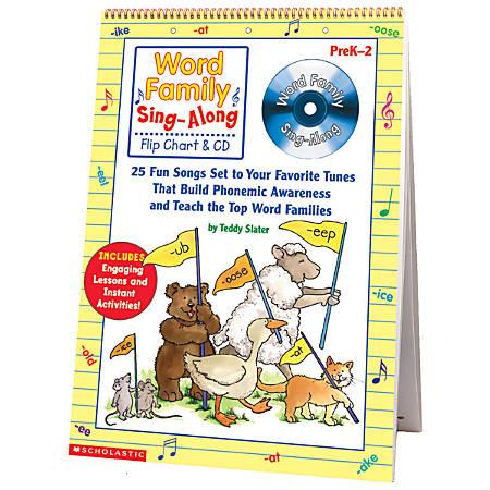 Scholastic Word Family Sing-Along Flip Chart & CD