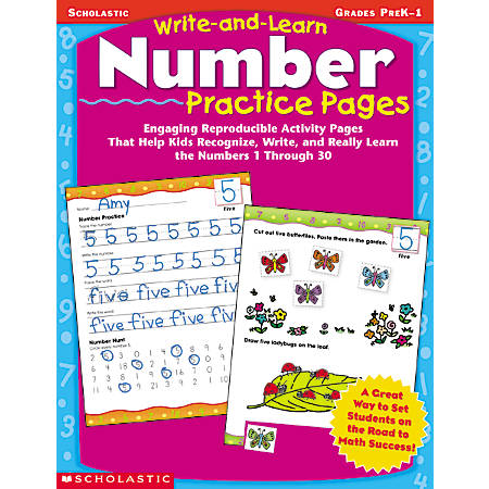 Scholastic Write-And-Learn Number Practice Pages