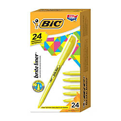 BIC Brite Liner Highlighters Chisel Point