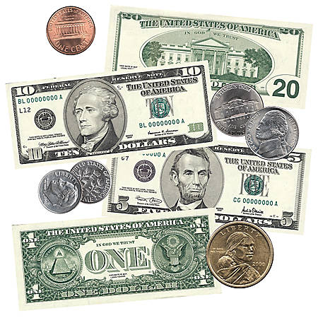 Scholastic Punch-Outs — U.S Coins & Bills